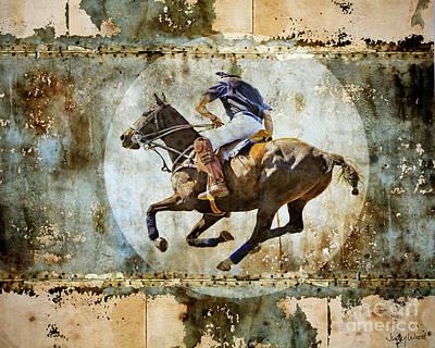 Judy Wood Digital Art - Polo Pursuit by Judy Wood