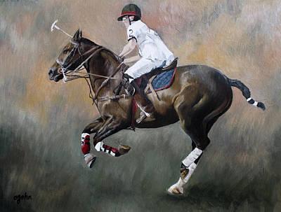Aristocrat Mixed Media - Polo Rider #2 by Abra Johnson