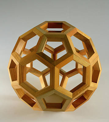 Proportions Photograph - Polyhedron Wood by Italian School