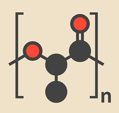Polymer Photograph - Polylactic Acid Polymer Molecule by Molekuul