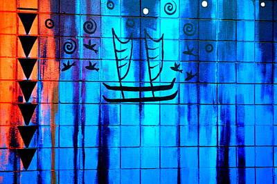 Polynesian Graffiti  Print by Karon Melillo DeVega