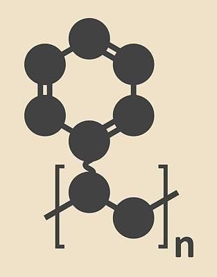 Polymer Photograph - Polystyrene Plastic Polymer Molecule by Molekuul