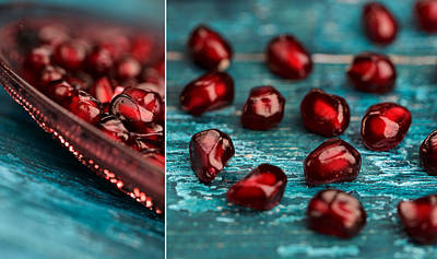 Red Fruit Photograph - Pomegranate Collage by Nailia Schwarz