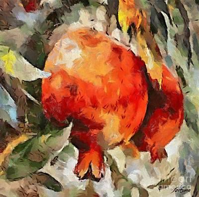 Pomegranate Print by Dragica  Micki Fortuna