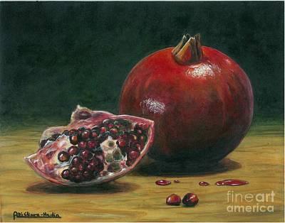 Italian Wine Painting - Pomegranate by Italian Art