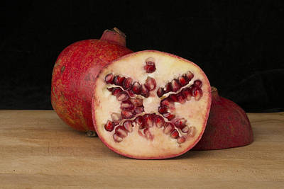 Cut In Half Photograph - Pomegranates 1 by Scott Campbell