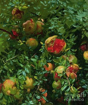 Lush Painting - Pomegranates    Majorca by John Singer Sargent