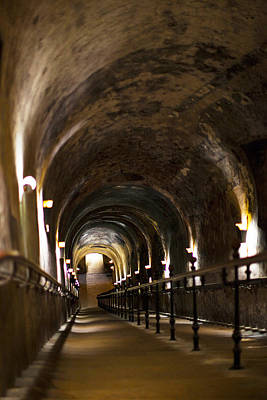 Pommery Champagne Winery Passageway Print by Panoramic Images
