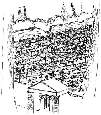 Pompei Vineyard Print by Elizabeth Thorstenson