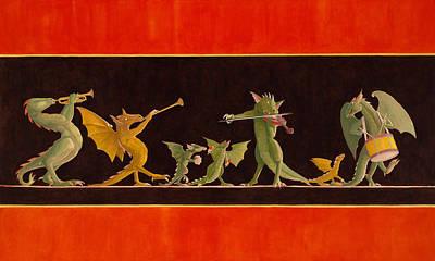 Painting - Pompeiian Minstrels by Leonard Filgate