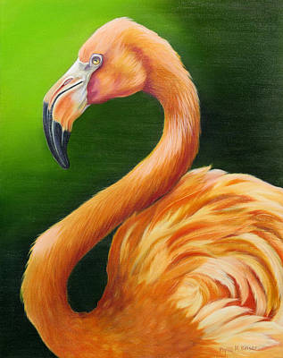 Greater Flamingo Painting - Pompous by Phyllis Beiser