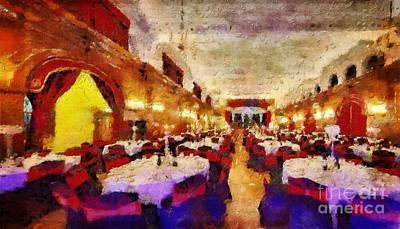 Pompous Painting - Pompous Restaurant by Magomed Magomedagaev