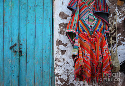 Poncho Photograph - Ponchos For Sale by James Brunker