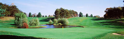 Baltimore Photograph - Pond At A Golf Course, Baltimore by Panoramic Images