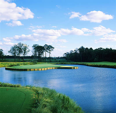 Pond In A Golf Course, Carolina Golf Print by Panoramic Images