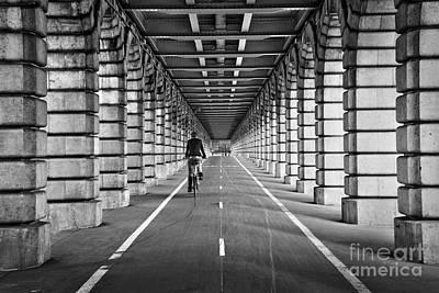 Pont De Bercy Print by Delphimages Photo Creations