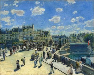Pierre-auguste Renoir Painting - Pont Neuf Paris by Pierre-Auguste Renoir