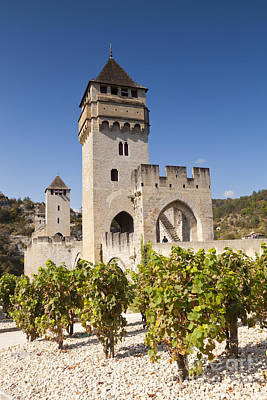 Pont Valentre Cahors Midi-pyrenees France Print by Colin and Linda McKie