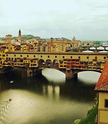 Ponte Vecchio 2 Print by Ellen Henneke