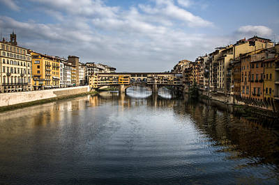 Tuscany Art Photograph - Ponte Vecchio by Dave Bowman