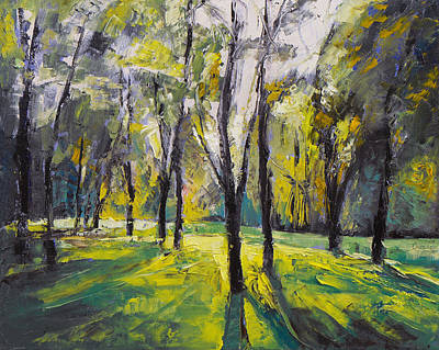 Arbres Painting - Pontefract Park At Sunset by Michael Creese