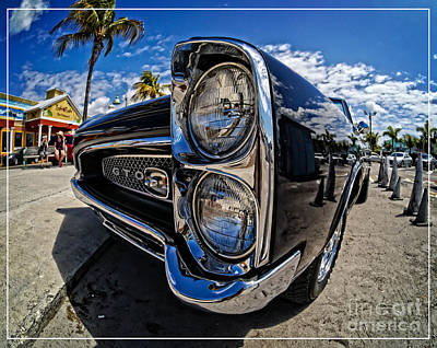 Dynamic Photograph - Pontiac Gto Convertible Ft Myers Beach Florida by Edward Fielding