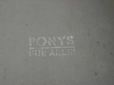 Ponys Print by Phillip Steele