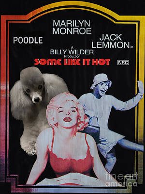 Poodle Art -some Like It Hot Movie Poster Print by Sandra Sij