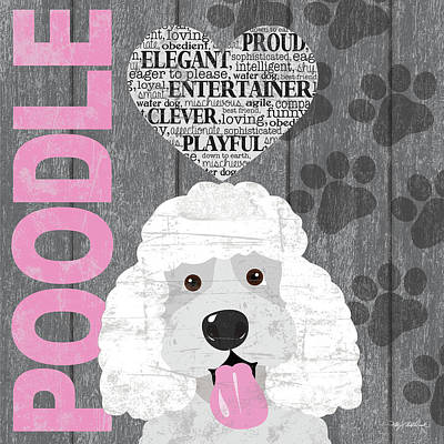 Poodle Love Print by Kathy Middlebrook