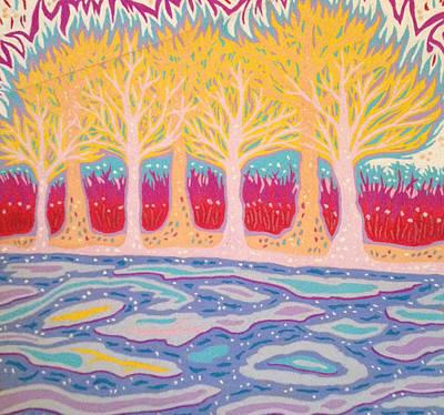 Pooh Sticks Print by Mike Manzi