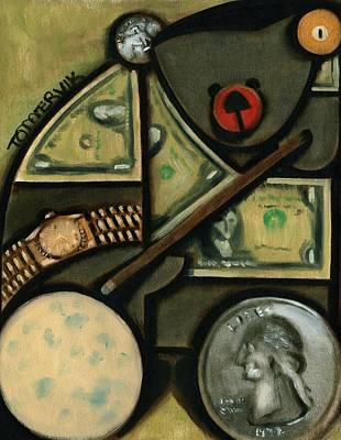 Money Painting - Tommervik Pool Bear Art Print by Tommervk