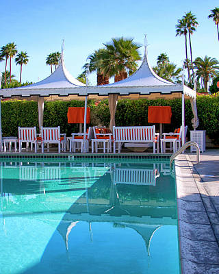 Pool Pavillions Palm Springs Print by William Dey