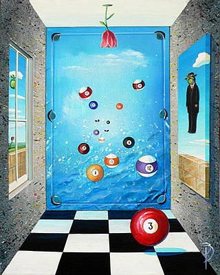 Rene Magritte Painting - Pool Room by Donna Page