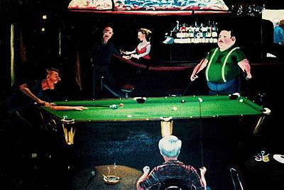 Pooling Around Print by Susan Roberts