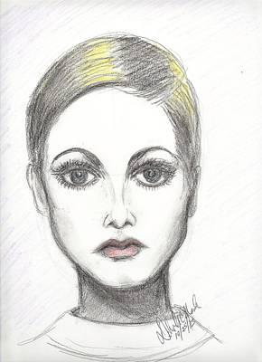 Twiggy Drawing - Pop 1025 by Deborah Marsh