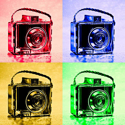 Kodak Photograph - Pop Art Brownie Cameras by Jon Woodhams
