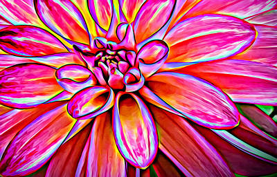 Optical Illusion Photograph - Pop Art Dahlia by Mary Jo Allen