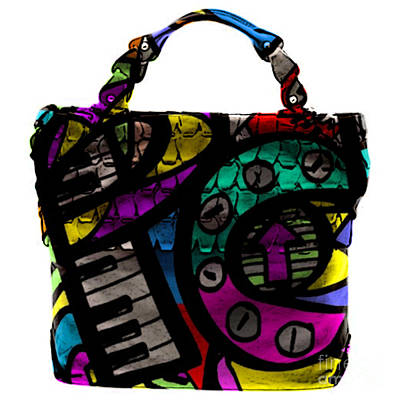 Piano Mixed Media - Pop Art Hand Bag Painting by Marvin Blaine