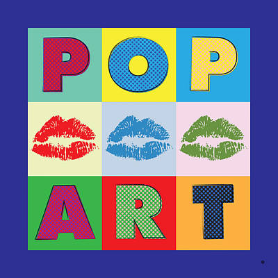 Pop Art Lips Print by Gary Grayson