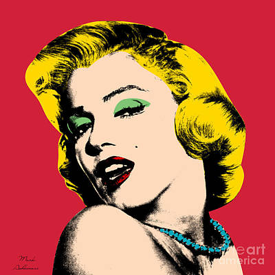 Marilyn Monroe Digital Art - Pop Art by Mark Ashkenazi