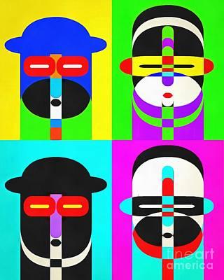 Pop Art People 4 2 Print by Edward Fielding