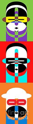 Op Art Photograph - Pop Art People Totem by Edward Fielding