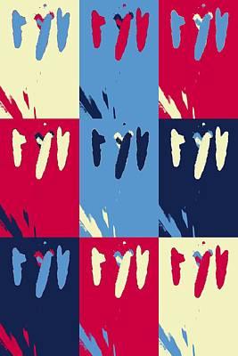 Aster Mixed Media - Pop Art Pistils by Toppart Sweden