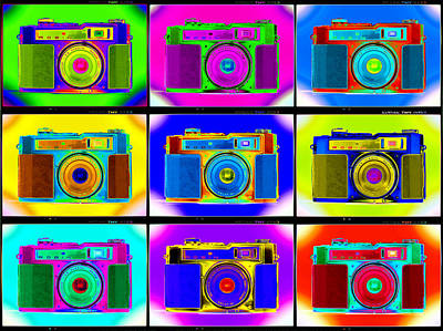 35mm Photograph - Pop Art Robin Proofs by Mike McGlothlen
