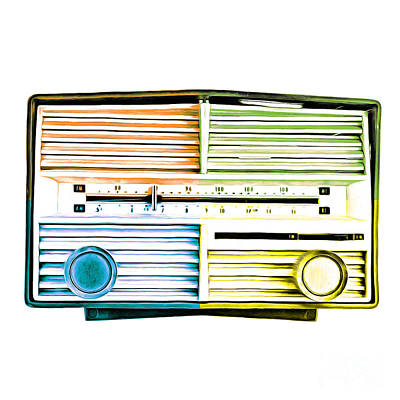 Commercial Art Photograph - Pop Art Vintage Radio by Edward Fielding