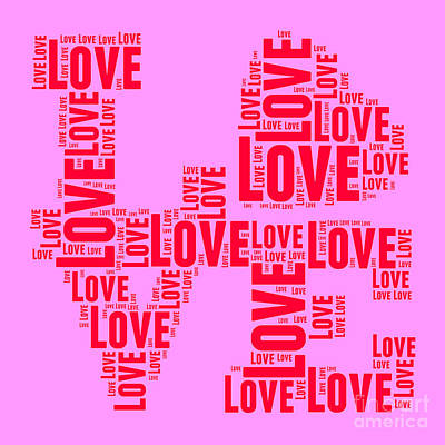 Valentines Day Digital Art - Pop Love 4 by Delphimages Photo Creations