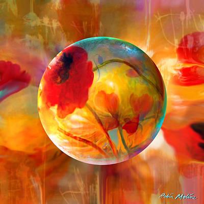 Poppy Digital Art - Pop Twombly by Robin Moline