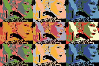 Popart Fashion Girl Print by Toppart Sweden