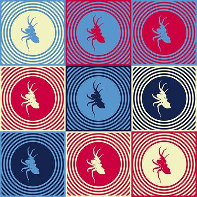 Spider Legs Mixed Media - Popart Spiders  by Toppart Sweden