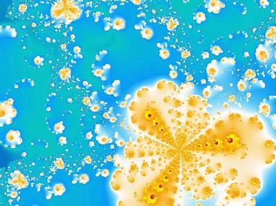 Abstract Digital Art - Popcorn Galaxy by Anastasiya Malakhova